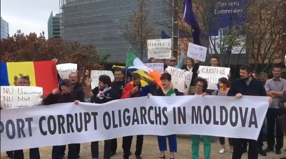 В Молдове проходит многотысячный антиправительственный протест (фото, видео)