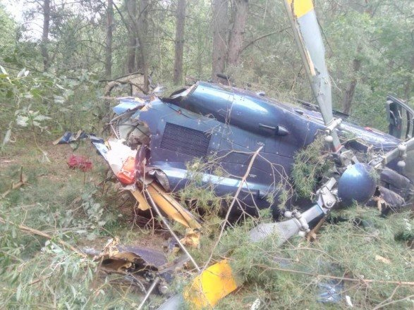 В Киеве упал вертолет