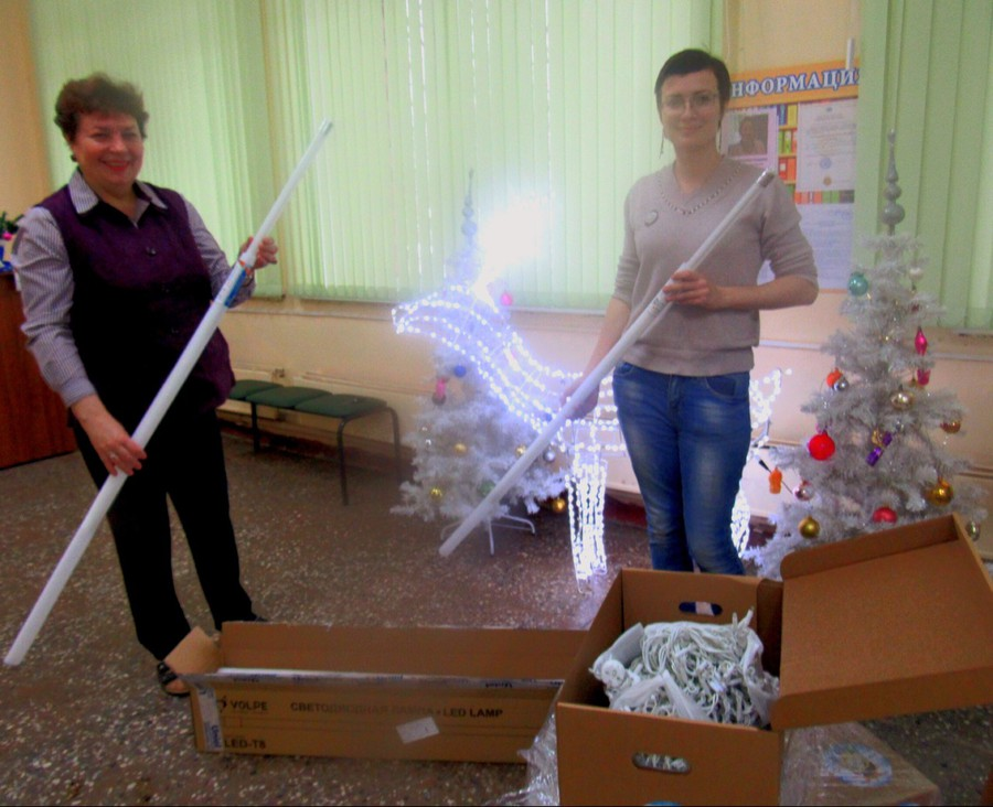 Новогодние подарки для детской библиотеки от компании Uniel