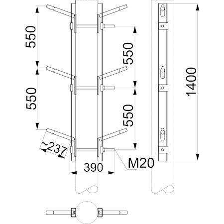 Двухцепная траверса марки SH157.10 от Ensto